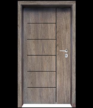 Блиндирана Входна врата F-1001 цвят Ntekape