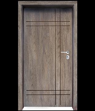Блиндирана Входна врата F-1002 цвят Ntekape